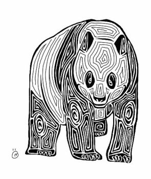 Tribal Panda Tattoo by serenduke