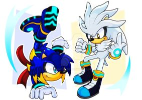 Jolt and Silver the hedgehog (Digital) by Arung98