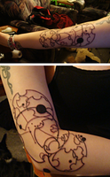 Gallifreyan Tattoo - 1952 by bloodyneptune