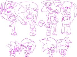 Sonic Underground doodle by ncond3