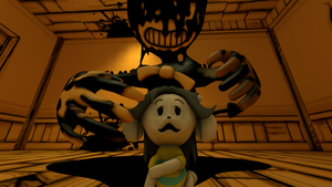 Temmie And The Ink Machine (BATIM+Undertale) by Clawort-Animations