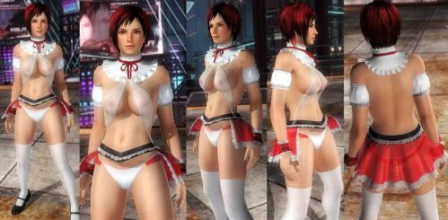 Mila Red Seethrough Skirt by funnybunny666