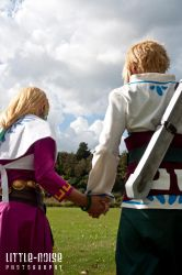 LoZ:SS - Zelda and Link cosplay by KeyshaKitty