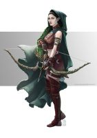 Elf Rogue Character Illustration by BiPiCado