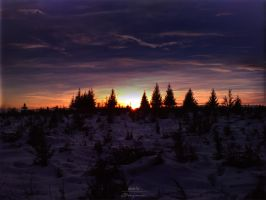 Just one more sunset in winter by OBenjamin