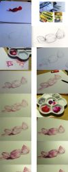 Watercolour candy step by step by Ya-P