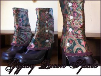Gypsy Queen Lady's Spats by velvetgoldmineee