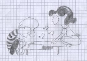 Lucy and Schroeder by Schrucy