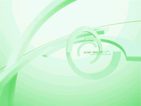 Green ALTIMIT Mine OS Wallpaper by Osama35