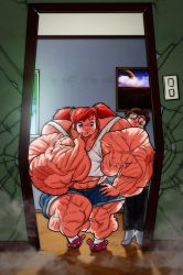 The drawbacks of being a musclegirl by LordDaroth