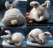 KNITTED BUNNY OMG by ChocoboGoddess