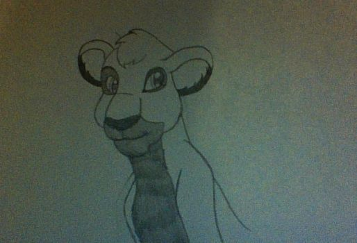 Attempt at Lion (Somewhat Disney Style) by PenguinPowerOfFear