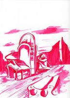 Daily Sketch: Domed Dreamscape by Hunchy