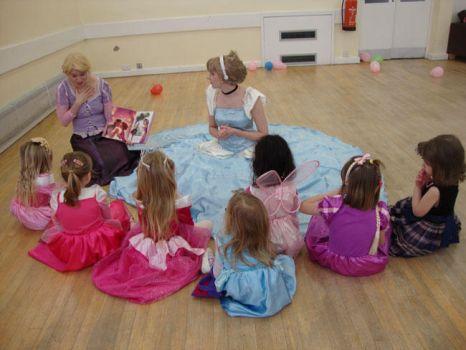 Enchanting Story Time with Rapunzel and Cinderella by FuriePhoenix