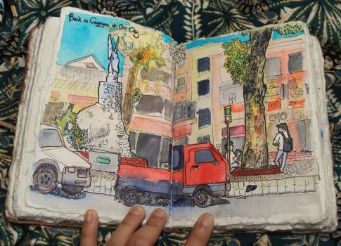 Urban Sketching: City by LadyHazy