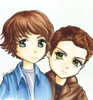 Chibi Sam and Dean -season 1 by Montanajin