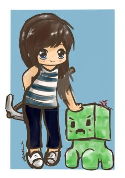 Minecraft chibi's by moonshadebutterfly
