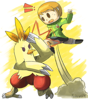 Chie and Combusken by Phatmon
