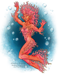 Coral Creature for PurpleDuck Games by KMCgeijyutsuka