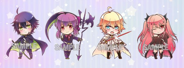 Seraph of the End keychains by Heller45