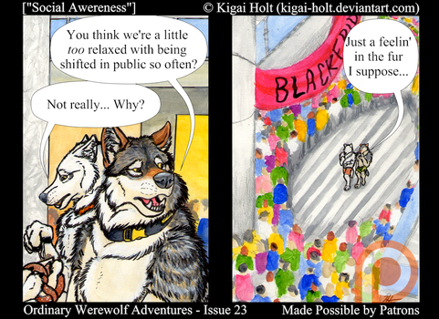 Ordinary Werewolf Adventures - Social Awereness by Kigai-Holt