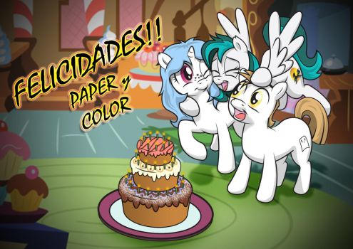 Happy birthday Color and Paper Colored by Terkatoriam