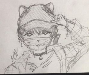 lil meow meow again uwu by Anonymous-Painter