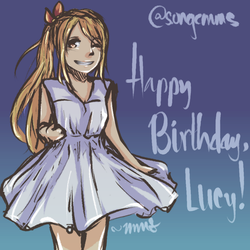 | FA | Fairy Tail - Happy 2016 Birthday, Lucy! by songc