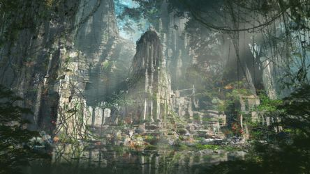 Swampland - Temple Area by 2buiArt