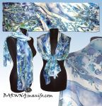 Silk scarf IRIS - hand painted - commision by MinkuLul
