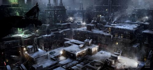 Batman Arkham Origins Arkham Rooftop. by Gryphart