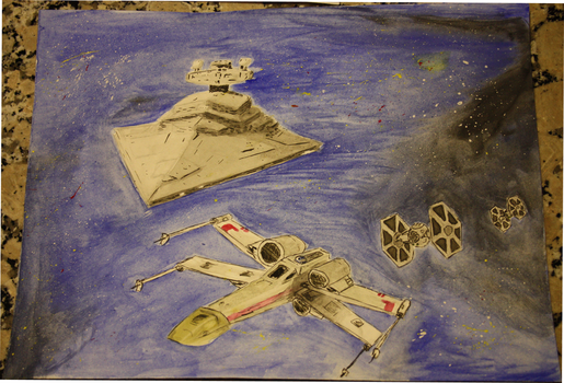 Starwars Watercolour by Leie