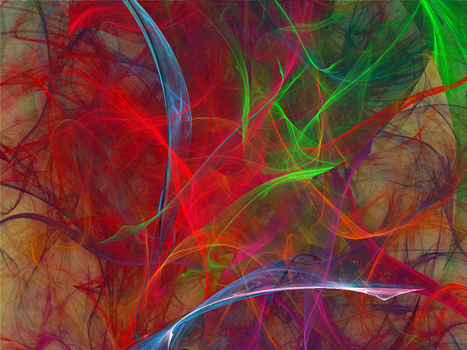 Abstract in the Color of Me by Fractamonium