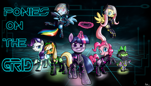 Ponies on The GRID by AnnaKitsun3