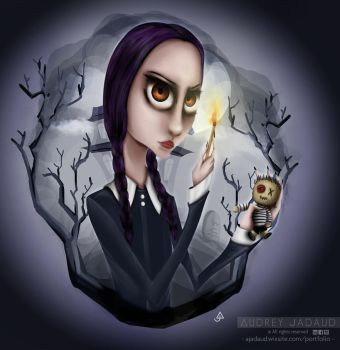 Fan Art Mercredi Addams/Wednesday Addams by jadaudaudrey