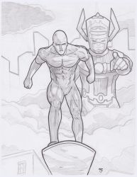 Silver Surfer herald of Galactus by Alexander463