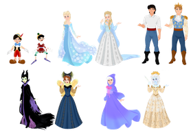 Disney Characters vs. Fairytale Characters III by musicmermaid