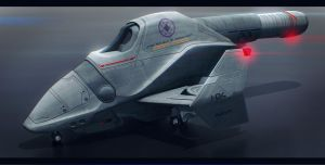 Chronicles of Man Arashi Type Dropship by AdamKop