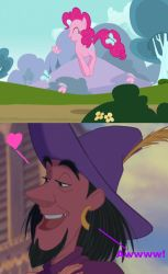 Clopin Thinks Pinkie Pie Is Cute by WanderSong