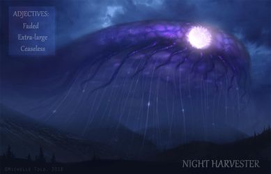 Adjective Creatures: Night Harvester by Manweri