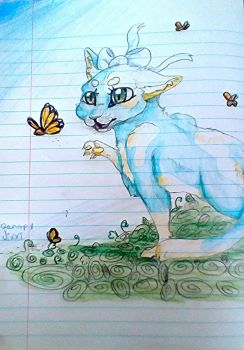 .::COMISH::. Butterfly by Qanopy