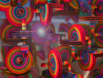 Psychedelic Saucers by tiffrmc720