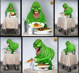 Ghostbusters' Slimmer 1/4 statue by alterton