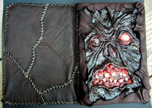 Necronomicon nook cover front and back by dogzillalives