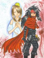 Giftart--Vincent+Lucrecia by RyouShirogane