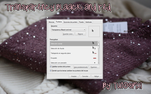 Cursor Transparency Blaack and red by TutosPixi