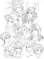 Dissidia: Heroes by lapie