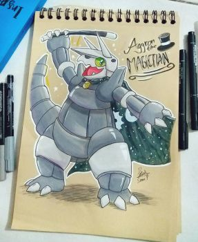 Aggron the Magician~ by Ppoint555