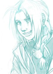 Edward Elric semi-realistic sketch by nocturnalMoTH