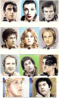 Blakes7 sketchcards by whu-wei